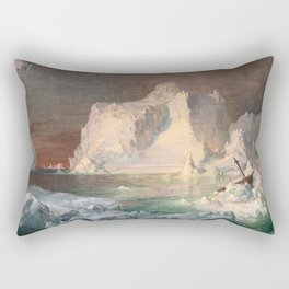 Frederic Edwin Church - Final Study for The Icebergs Rectangular Pillow