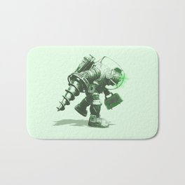 Daddy's Coming Home (Green) Bath Mat