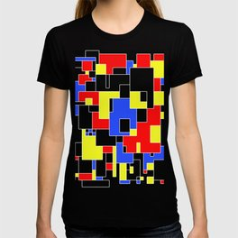Primary Plans - Abstract, geometric map in primary colours T-shirt