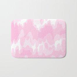 Blossom - Blush pink abstract art Bath Mat
