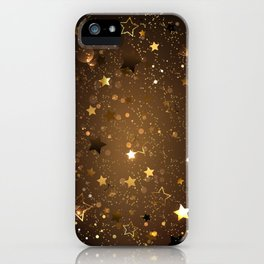 Brown Background with Stars iPhone Case