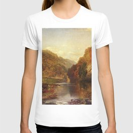 Autumn On The Wissahickon 1864 By Thomas Moran | Fall Colors Landscape Reproduction T-shirt