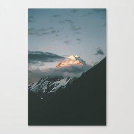 The majestic Aoraki / Mt Cook at dusk Canvas Print