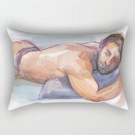 MATT, Semi-Nude Male by Frank-Joseph Rectangular Pillow