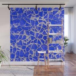Blue broken glass texture Wall Mural