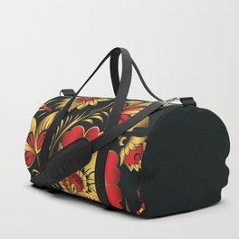 Golden russian folk Duffle Bag