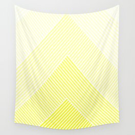 Shades of Yellow Abstract geometric pattern Wall Tapestry