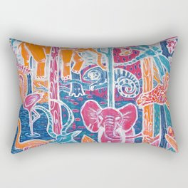Animal Neon Jungle Rectangular Pillow