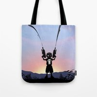 punisher Tote Bags featuring Punisher Kid by Andy Fairhurst Art