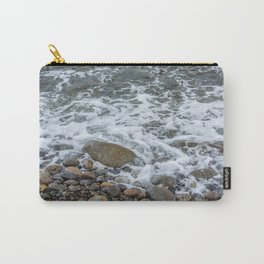 Wave washing over pebbles Carry-All Pouch