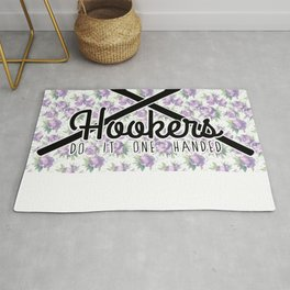 hookers do it one handed funny crochet Rug