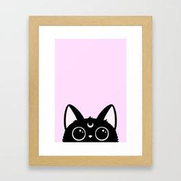 Hewwo? // Pink Version Framed Art Print