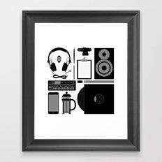 Studio Objects Vector Illustration Framed Art Print