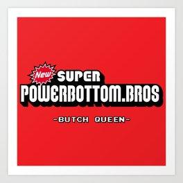 BQ - Super Power Bottom Bros Art Print