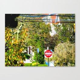 DO NOT ENTER Canvas Print