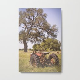 abandoned tractor on farm 2 Metal Print