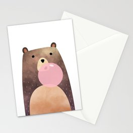 Bear gum, nursery print Stationery Cards