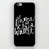 wallet iPhone & iPod Skins featuring phone, keys, wallet! by molly ennis