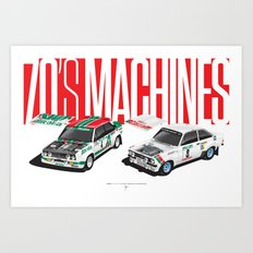 70's Machines Art Print