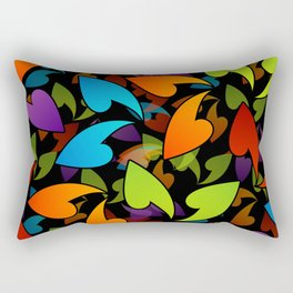 Four seasons leaves- colorful leaves to symbolize seasons Rectangular Pillow