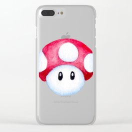 Mario Mushroom Clear iPhone Case