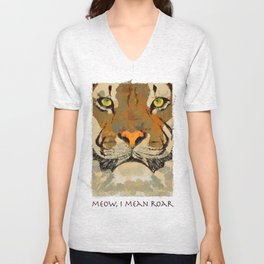 meow, i mean roar Unisex V-Neck