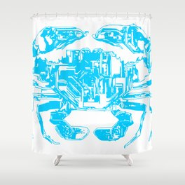 Cyber Crab Shower Curtain