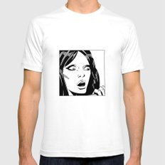 Vintage comic woman SMALL Mens Fitted Tee White