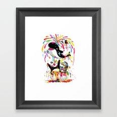 Yay! Bath Time! Framed Art Print