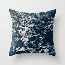 Blue Sea Throw Pillow