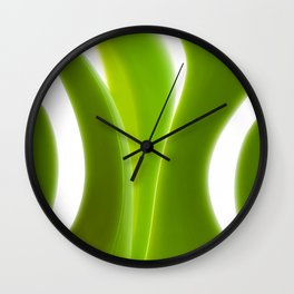Green Leaves abstract 029 Wall Clock