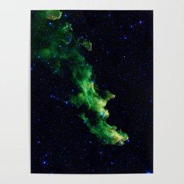 Galaxy: Green Witch's Head Nebula Poster