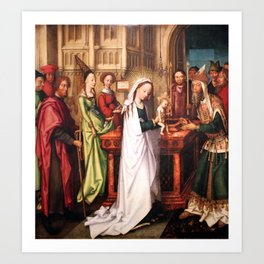 Presentation of Jesus at the Temple Art Print
