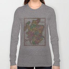 Vintage Map of Scotland (1827)  Long Sleeve T-shirt
