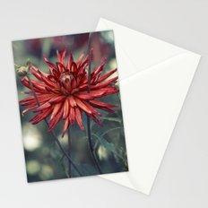 Red Dahlia No. 2 Stationery Cards