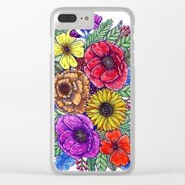 Floral Diversity Clear iPhone Case