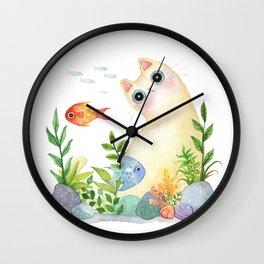 The Aquarium Cat Wall Clock