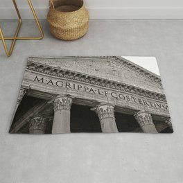 The Pantheon black and white Rug
