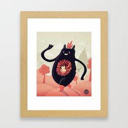 King eats King Framed Art Print