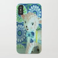 lamb iPhone & iPod Cases featuring  Lamb by Vintage  Cuteness