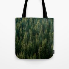 GREEN FOREST PATTERN Tote Bag
