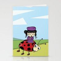 ladybug Stationery Cards featuring Ladybug by flydesign