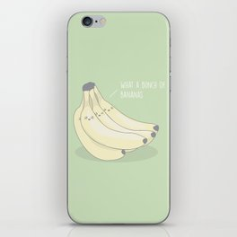 Bunch Of Bananas #kawaii #fruit iPhone Skin