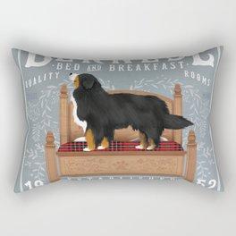 Bernese Berner Dog Bed and Breakfast Art Rectangular Pillow