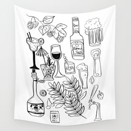 Alcohol Doodles Wall Tapestry