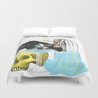 cherry Duvet Covers featuring cherry by kawaii shark
