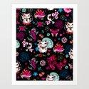 Lucky Cat Maneki Neko , Dragons and Koi fish by fluffshop