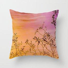 Joshua Tree Curtain of Shrubbery Throw Pillow