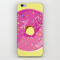 donut iPhone & iPod Skins featuring donut by Britt Mansouri