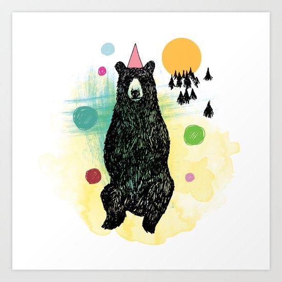 Bear Scape Art Print